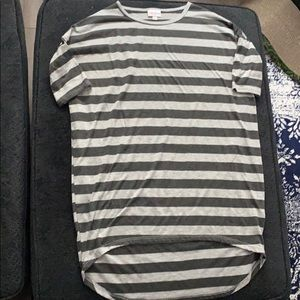 Black and Gray striped t-shirt